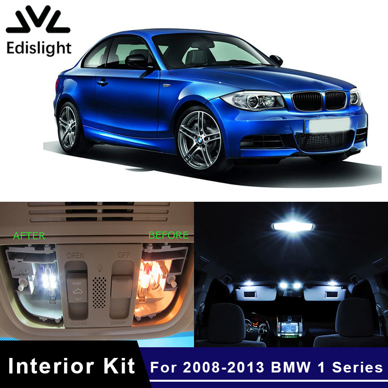 Edislight 14Pcs Canbus LED Lamp Car Bulbs Interior Package Kit For 2008-2013 <font><b>BMW</b></font> 1 Series <font><b>E82</b></font> E87 E88 Map Dome Door Trunk Light image