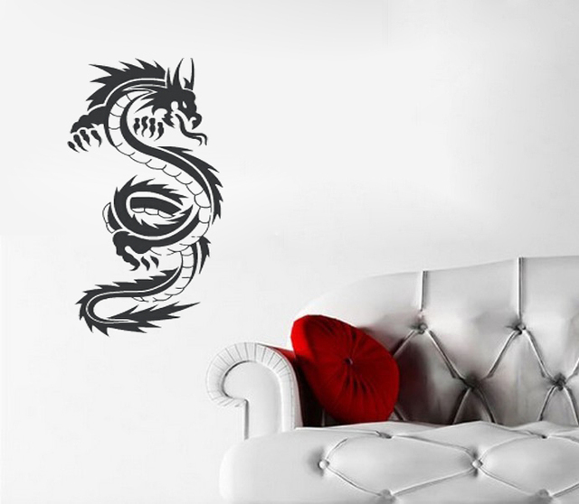 Tribal Tattoo Chinese Dragon Wall Decal Sticker Wall Decals Vinyl Stickers Home Decor Art Wall Sticker
