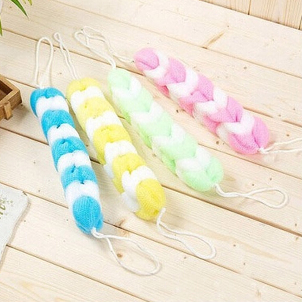1PC Color Randon Loofah Flower Bath Ball Bath Tubs Cool Bath Belt Towel Scrubber Body Cleaning Mesh Shower Sponge bath brush