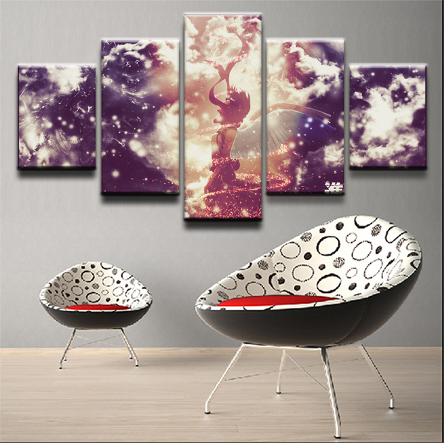 5 Panel On An Mikasa Ackerman Modern Home Wall Decor Canvas Picture Art Hd Print