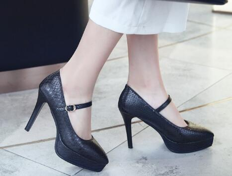 chaussure femme platform sexy thin high heels zapatos mujer wedding shoes  woman ladies belt buckle women pumps 2018 C170530-in Women s Pumps from  Shoes on . 20037bfa648b