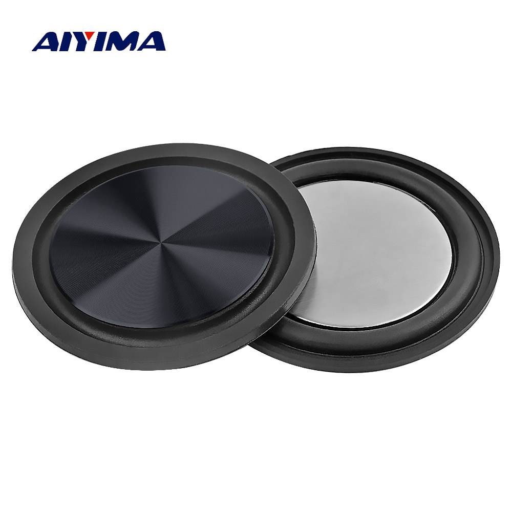 AIYIMA 2PCS 61MM Bass Radiator Speaker Diaphragm Auxiliary Subwoofer Vibration Passive Radiator Rubber Plate For Woofer Speaker