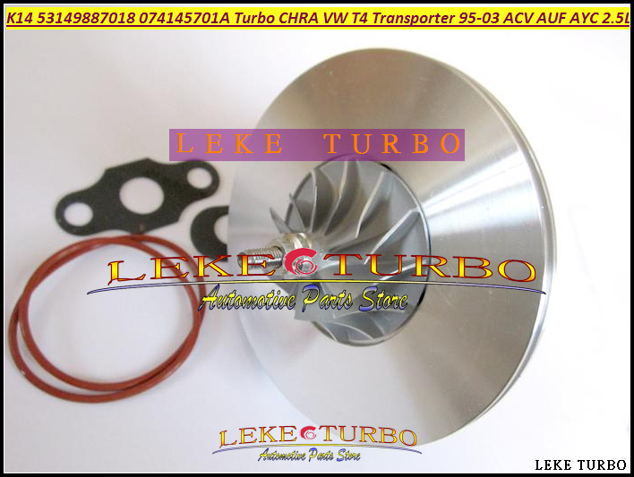 Turbo Chra Cartridge Core K14 53149707018 53149887018 074145701A Turbocharger For VW T4 Transporter 95- AJT AYY ACV AUF AYC 2.5L turbo cartridge chra core gt2256s 765326 5002s 765326 turbocharger for volkswagen vw 8 150 5140 delivery for mwm 4 08 tcae 3 0l