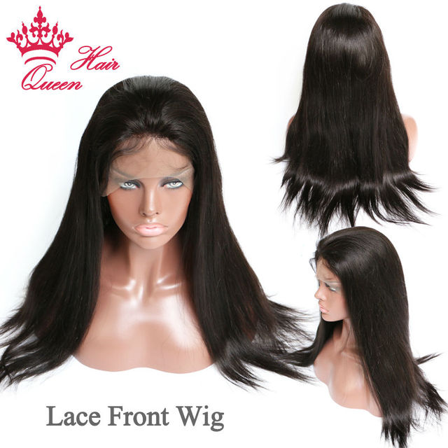 Queen Hair Lace Front Wig Virgin Hair 100% Human Hair Lace Wigs Straight Human Hair Wigs For Black Women In Stock DHL Free