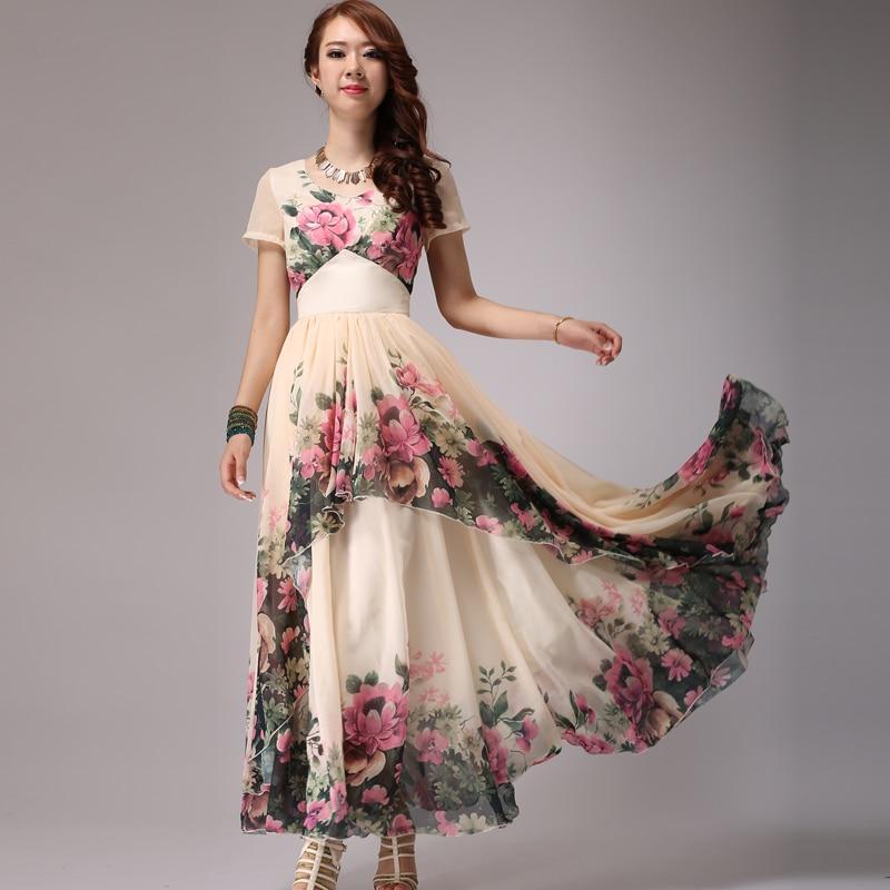 Long Printed Dresses