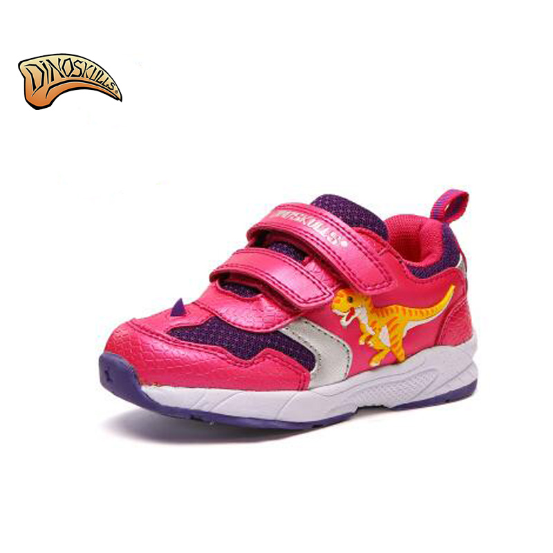 Dinoskulls Brand Cool LED Lighted Children Sneakers High Quality Hot Sales Boys Birls Shoes Fashion 3D Dinosaur Baby Kids Shoes