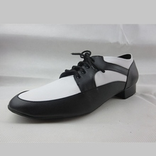 Mix Color Black White Men Latin Dance Shoes Salsa Soft Outsole Lace Up Ballroom Shoes Man