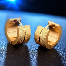 Women Men Fashion Frosted Earrings Stud Stainless Steel Material 6 Color Trendy Style Jewelry Unisex 2017 New