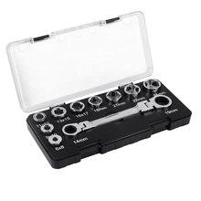 16 IN 1 6-24MM Activity Ratchet Wrench Set Fixed Head Ratcheting Combination Spanner Wrenchs Sets Hand Tools Head Set Socket 1 piece 8 22mm cr v flexible head wrench set combination ratchet spanner hand tools set flex head ratcheting handle wrenches