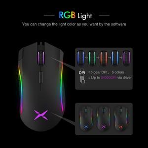 Image 5 - Delux M625 PMW3360 חיישן משחקי עכבר 12000DPI 12000FPS 7 כפתורים RGB תאורה אחורית אופטי Wired עכברים עם אש מפתח עבור FPS גיימר
