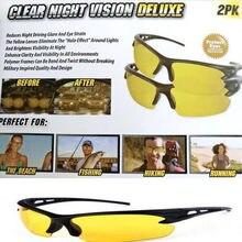 096e2a473 Óculos de Visão noturna Para Farol Noite Óculos de Proteção Polarizados  Condução Óculos de Lente Amarela
