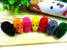 Dog Squeak Toys For Doys Pet Supplies Flocking Little Mouse Rubber Cats Toy Colorful Life Cute Pet Animal Toys A1089