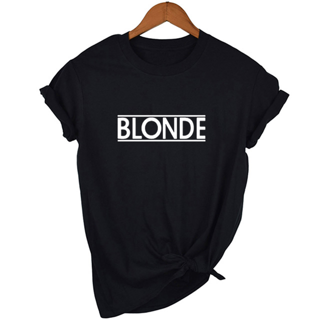 Blonde T Shirts Women Casual Top Tee Summer Fashion Tumblr Graphic T-shirt Harajuku Grunge Tops Tee Clothes Drop Ship