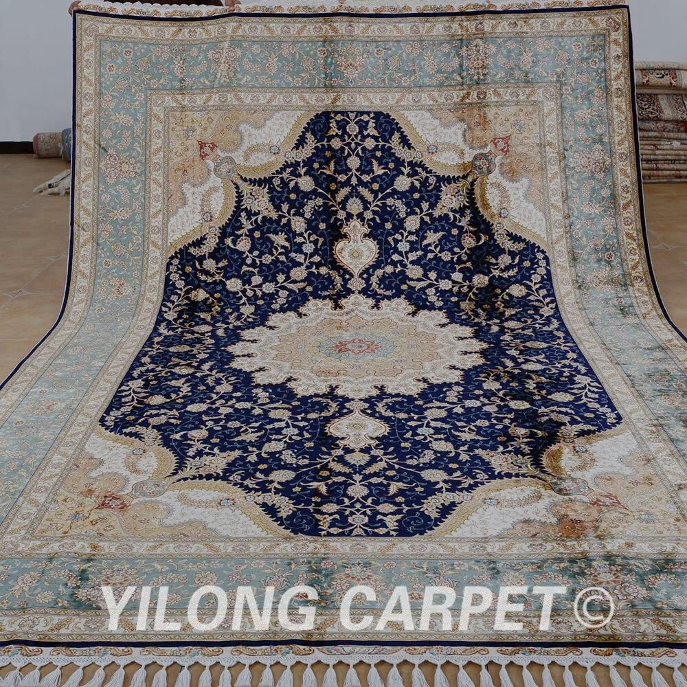 Yilong 8 X11 7 Tabriz Oriental Rug Large Antique Black Turkish Handmade Carpet 1869
