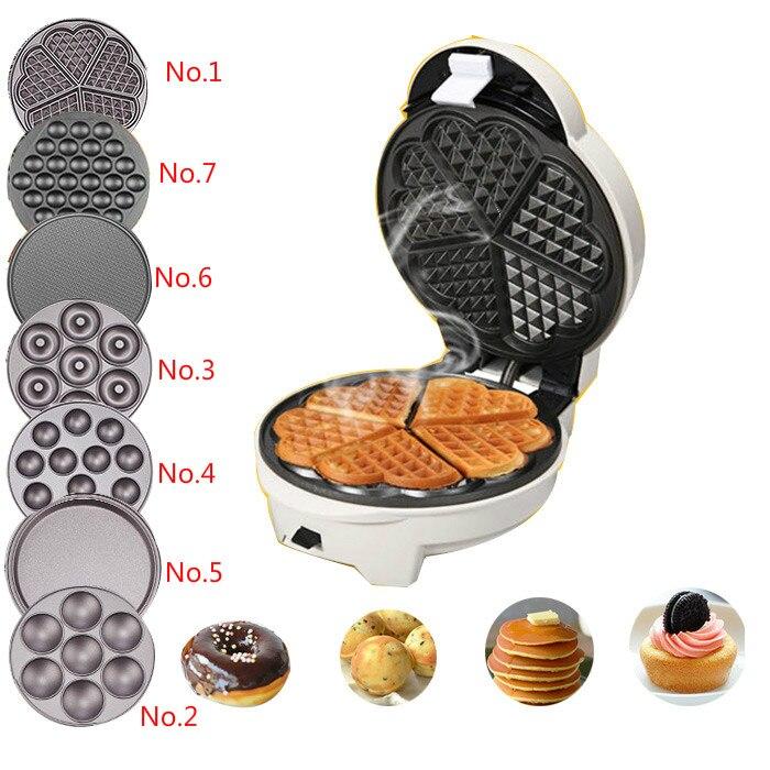 Mivanoz family cake machine automatic waffle muffin egg roll machine small white pot