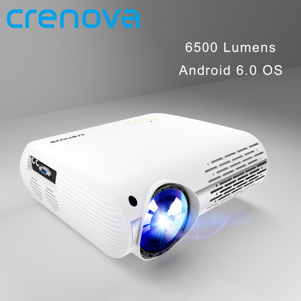 CRENOVA 6500 Lumen Home Theater Proiettori Per Full HD 4 k * 2 k Film Con Android 6.0 OS WIFI bluetooth Ha Condotto Il Proiettore Proiettore