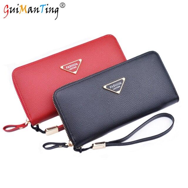 0d334d8e537 PU Leather Women Zipper Wallet Luxury Handbags Designer Card Holder Coin  Clutch Organizer Storage Purses Zipper Case Baobao Long