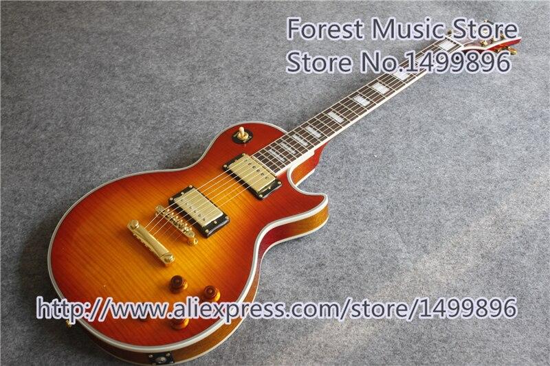 Offre Spéciale One Piece Cou Et Corps LP Personnalisé Électrique Guitares Chine OEM Corps En Acajou En Stock