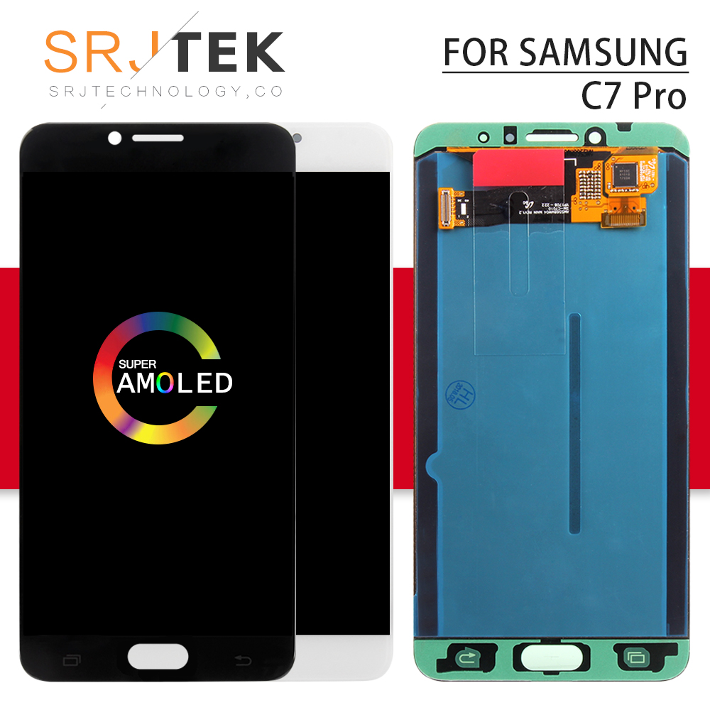 AMOLED For SAMSUNG Galaxy C7 Pro Display LCD Touch Digitizer Sensor Glass Assembly Frame For Samsung Galaxy C7 Pro C7010 LCDAMOLED For SAMSUNG Galaxy C7 Pro Display LCD Touch Digitizer Sensor Glass Assembly Frame For Samsung Galaxy C7 Pro C7010 LCD