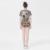 Novedad Twinset Nuevo 2016 de Moda de Verano de Manga Corta Delgada de la Impresión solo Botón Casual Tops + Pantalones Cortos Elegante High Street conjuntos