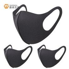 3 шт., черная маска для рта Kpop, дышащая, унисекс, губка, маска для лица, многоразовая, против загрязнения лица, защита от ветра, рот, покрытие 31