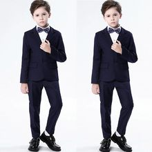 2019 Children Kids boys clothes Show Colorful Formal Suits Coat+Pants+Bow Tie+Shirt Suit Set roupas infantis menina(China)