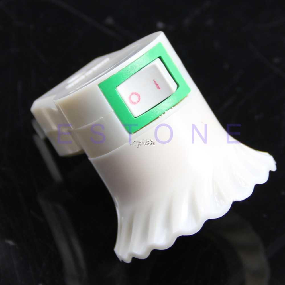 Useful E27 female socket to US/AU/EU plug adapter/power on-off control switch Whosale&Dropship