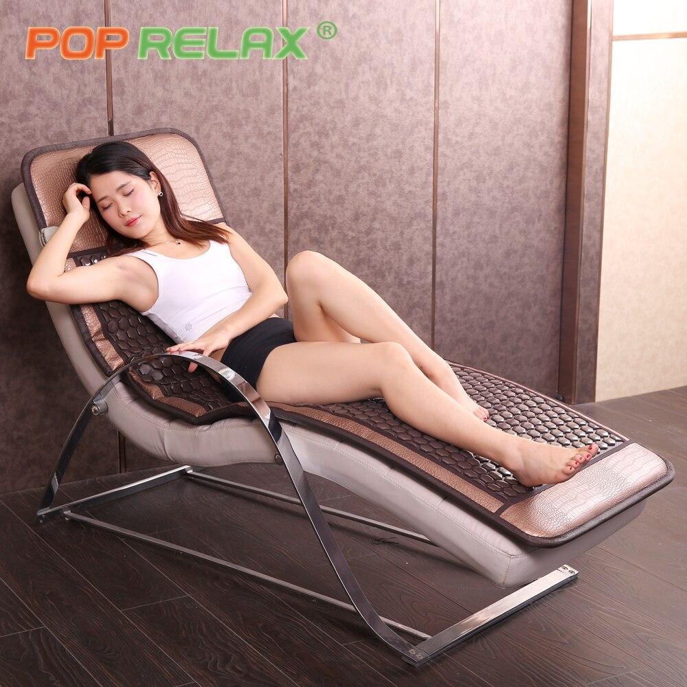 POP RELAX Corée tech tourmaline germanium lit matelas pierre canapé tapis thermique soins de santé bio infrarouge lointain électrique coussin chauffant