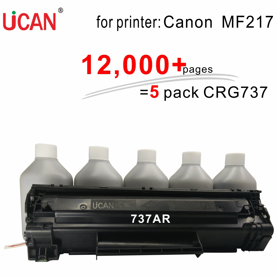 for Canon MF217w Printer Cartridge 737 317  UCAN 737AR(kit) 12,000 pages cs 7553xu toner laserjet printer laser cartridge for hp q7553x q5949x q7553 q5949 q 7553x 7553 5949x 5949 53x 49x bk 7k pages