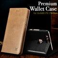 XOOMZ Кожаный Бумажник Case для Huawei P9/P9 Plus Мобильного телефон Фолио Обложка Сторона Открыта Флип Case для P9 5.2 5.5 дюймовый