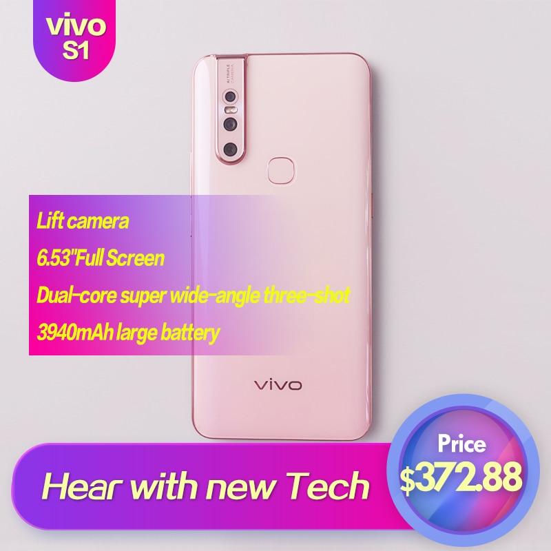 Vivo S1 Android 9.0 MTK téléphone intelligent plein écran 6.53 pouces 1080 × 2340 Octa Core 4 caméras 3940 mAh 6 GB 128 GB 12MP + 8MP + 5MP