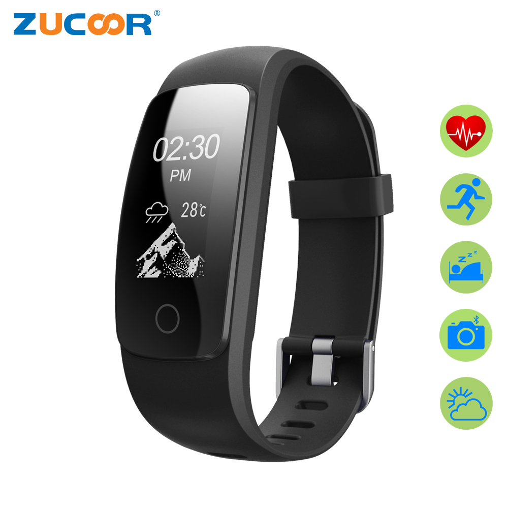 ZUCOOR Smart Bracelet Band Wristband Cardiaco Monitor Fitness Pedometer RB40 Eletronicos Bracelets Heart Rate Tracker For
