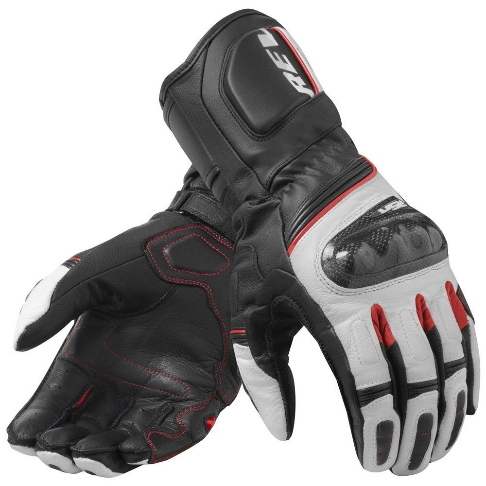 New 2019 REVIT RSR 3 Black/White Motorrad Motorcycle Touring Leather Gloves racing glove / Motorcycle gloves revit 4 colors-in Gloves from Automobiles & Motorcycles    3