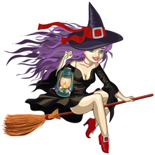 CK2791#15*15cm Colofrul Witch funny car sticker vinyl decal silver/black auto stickers for bumper window decor