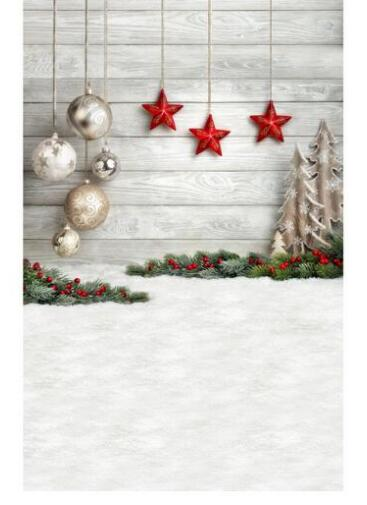 Christmas vinyl cloth balls red star wood wall photography backdrops for newborn children baby photo studio portrait backgrounds children s photography clothing hundred days old baby pictures studio portrait photography suit dress baby z 643