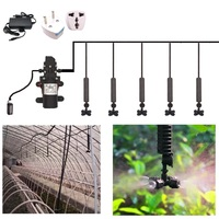 8/11mm to 4/7mm Hose 12V DC Water Pump Greenhouse Automatic Irrigation Cooling System Cross Atomization Nozzle Watering Kits