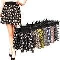 2016 nueva moda Plisado Retro de Cintura Alta de Verano floral gasa faldas mini falda corta a cuadros | 10 Estilos