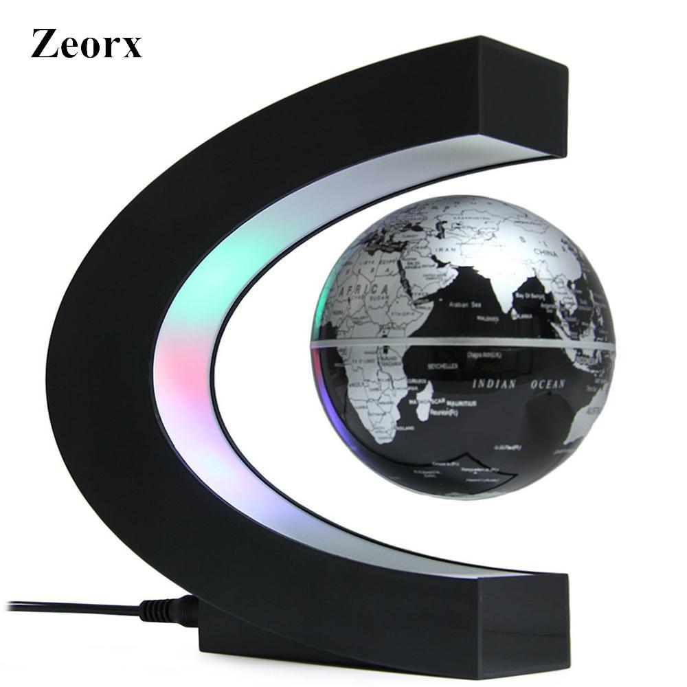 Licht & Beleuchtung Sinnvoll Zeorx C Form Dekoration Magnetic Levitation Schwebender Globus Mit Led Licht Welt Karte Anti Schwerkraft Globus Weihnachten Neuheit Geschenk