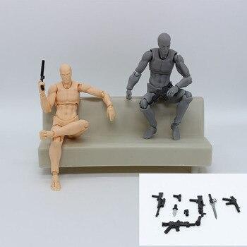Аниме Figma подвижные тела Чан ПВХ фигурку Модель игрушки куклы для коллекционных 14 см манекен искусства схематичный эскиз человеческого тел... >> Saier planet