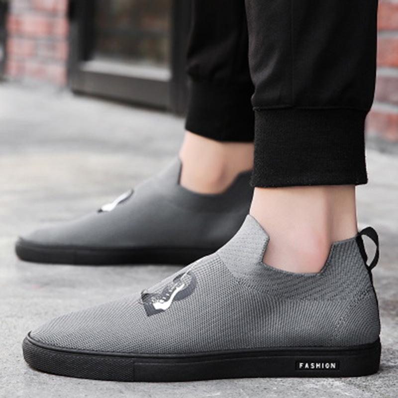 Brand 2018 New Summer Mesh (Air mesh) Men Breathable Loafers Black - Men's Shoes