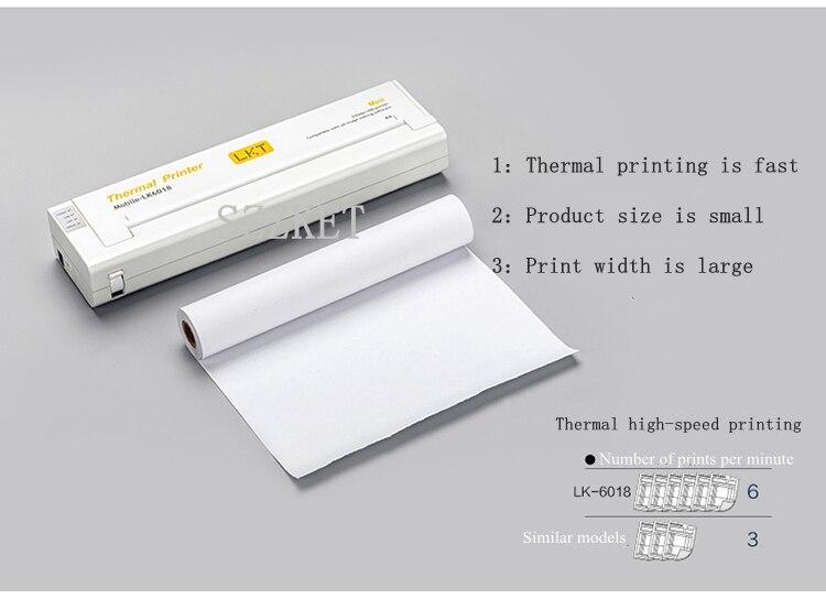 Neue Tasche Tragbare Thermische Drucker A4 drucker (216mm) Mini Mobile Büro Thermische Drucker, a4 Papier Auto Tragbare Thermo Drucker