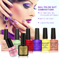 Ibcccndc Brand 6 Pcs 10ml Soak Off Nail Polish 1 High Quality Matte Top Gel 1
