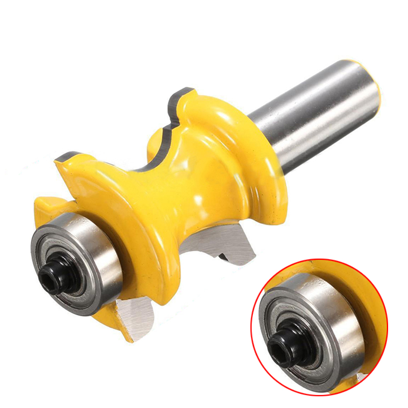 1/2'' Shank Bullnose with Bead Column Face Molding Router Bit Woodworking Tools 1 2 shank bullnose bead column face molding router bit alloy woodworking cutter for wood milling machines power tool