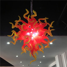 hot deal buy modern crystal chandelier lamp chihuly style hand blown glass chandelier cheap pendant lighting with led bulbs