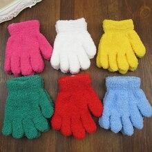 Cute Kids Boy Girls Children Full Finger Gloves Hand Mittens Warm Winter