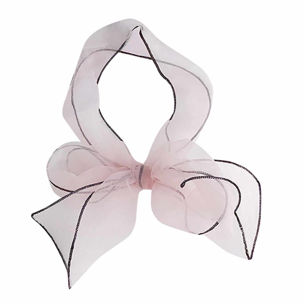 Vintage zarif tasarımlar ipek saten Feel bayanlar küçük kare kafa boyun eşarbı moda mujer 2019 modis yaz ipek eşarp
