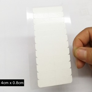 Image 4 - 10 枚 120 個 4 センチメートル * 0.8 センチメートル強力なダブル両面テープステッカースーパーヘアーヘアエクステンションツール