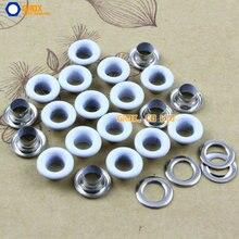 1000 набор 8*4*4 мм(наружный диаметр* внутренний диаметр* высота) белая круглая петля втулка