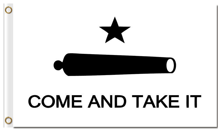 66a4aefb5 Texas Gonzales Cannon Come Take it Banner 90 150cm all logo all color royal  flag