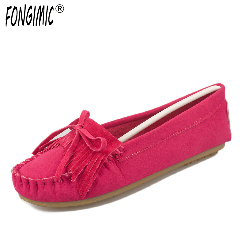 Spring Women Round Toe Flat Shoes Slip On Female Flat Shoes Simple Solid Women Soft Shoes Candy Color Shallow Lady Casual Flat 2017 shoes women med heels tassel slip on women pumps solid round toe high quality loafers preppy style lady casual shoes 17